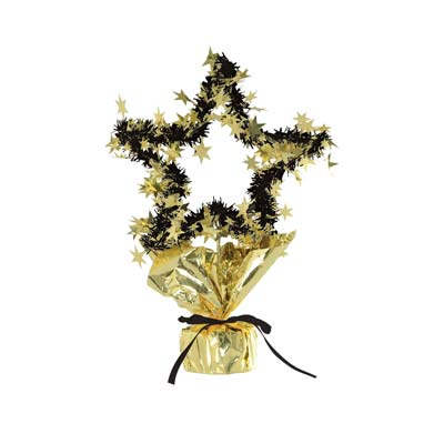 Star Gleam 'N Shape Centerpiece 11.5in gold