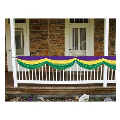 Mardi Gras Fabric Bunting 5ft10in