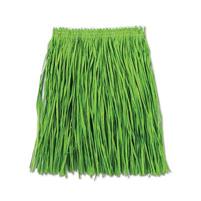 Adult Mini Hula Skirt 36W x 16L - Greem