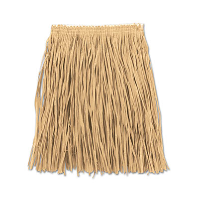 Adult Mini Hula Skirt 36W x 16L - Natural