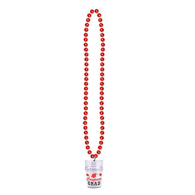 Beads w Grad Shot Glass - Red