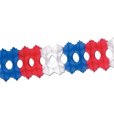 Pkgd Arcade Garland 5.15in x 12ft - Red White Blue