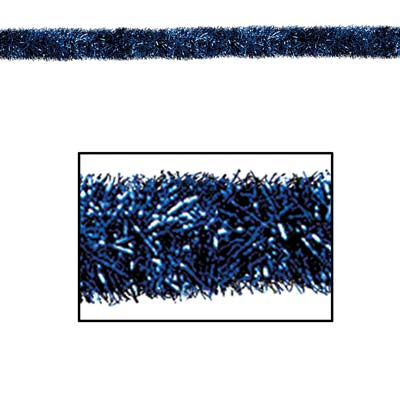 Gleam 'N Tinsel Garland Blue 4in x 100ft