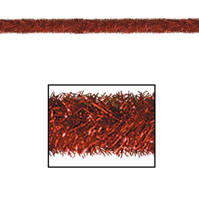 Gleam 'N Tinsel Garland Red 4in x 100ft