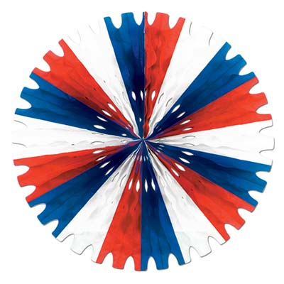 Tissue Fan 25in - Red White Blue