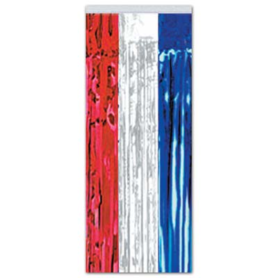 1-Ply FR Gleam 'N Curtain 8 x 3ft - Red White Blue