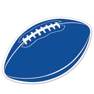 Football Cutout 18in - Blue