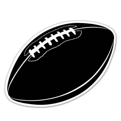 Football Cutout 18in - Black