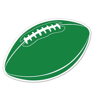 Football Cutout 18in - Green