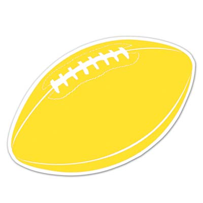 Football Cutout 18in - Gold