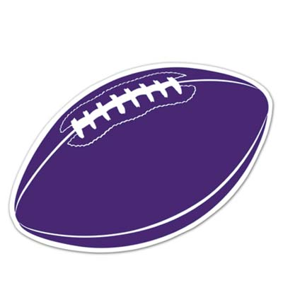 Football Cutout 18in - Purple