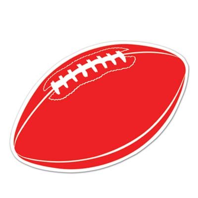 Football Cutout 18in - Red