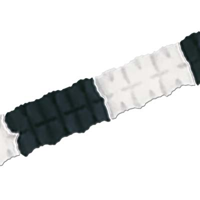 Pkgd Leaf Garland 4.5in x 12ft black & white