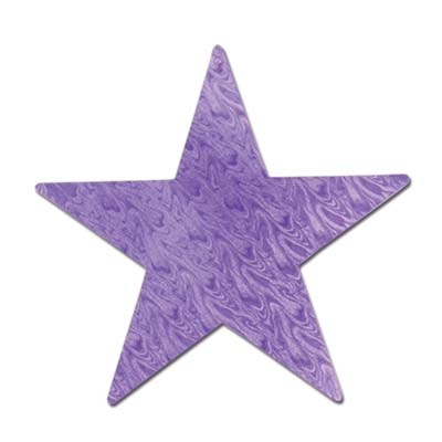 Embossed Foil Star Cutout 5in - Purple
