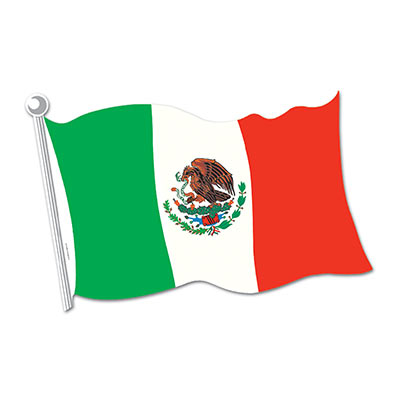 Mexican Flag Cutout 18in
