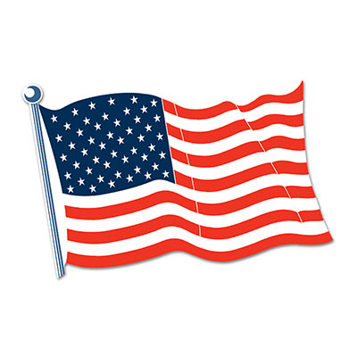American Flag Cutout 25in