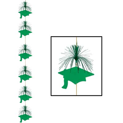 Grad Cap Firework Stringer 7ft - Green