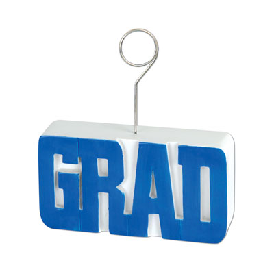 Grad PhotoBalloon Holder 6 Oz - Blue