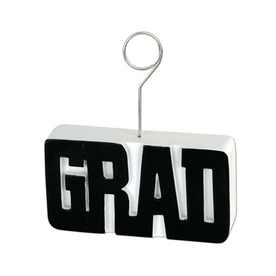 Grad PhotoBalloon Holder 6 Oz - Black