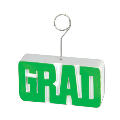 Grad PhotoBalloon Holder 6 Oz - Green