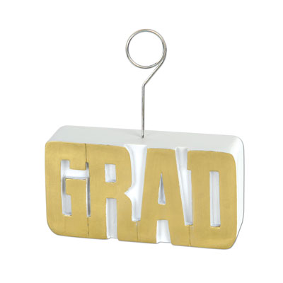 Grad PhotoBalloon Holder 6 Oz - Gold