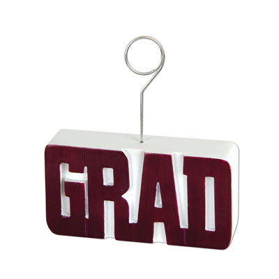 Grad PhotoBalloon Holder 6 Oz - Maroon