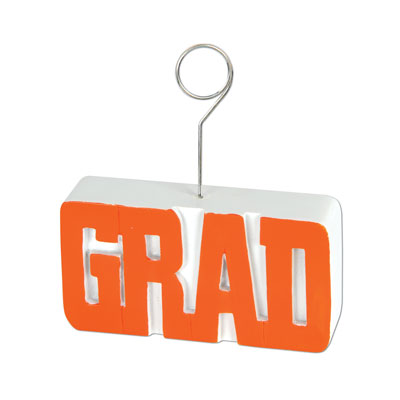 Grad PhotoBalloon Holder 6 Oz - Orange