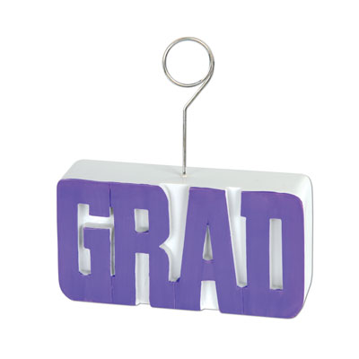 Grad PhotoBalloon Holder 6 Oz - Purple