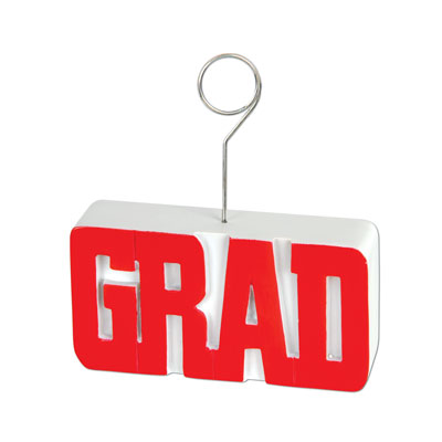Grad PhotoBalloon Holder 6 Oz - Red