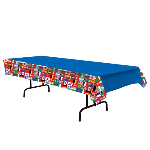 International Flag Tablecover- 108in