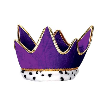 Plush Royal Crown - Purple