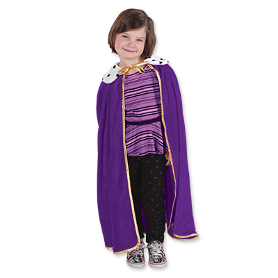 Child King Queen Robe 33in - Purple