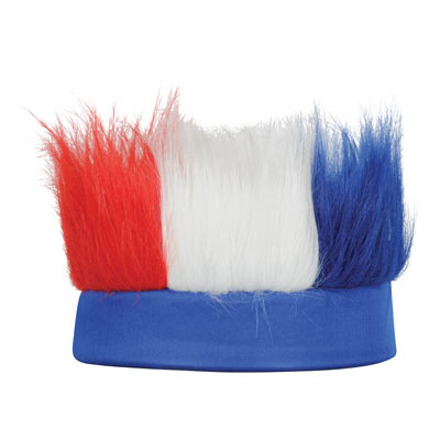 Hairy Headband - Red White Blue