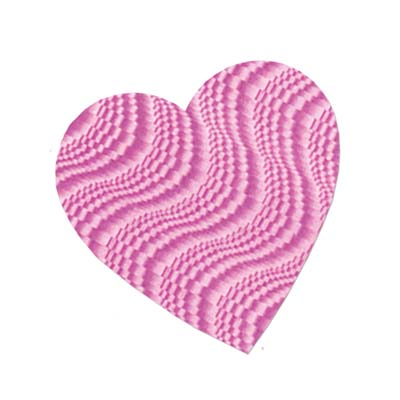 Embossed Foil Heart Cutout 4in - Pink