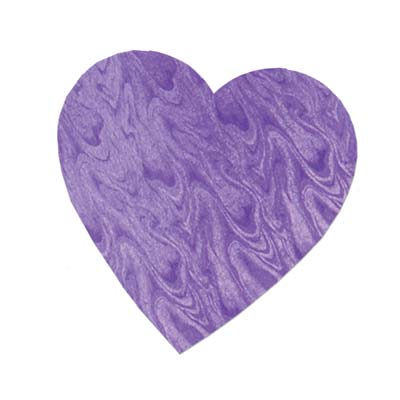 Embossed Foil Heart Cutout 4in - Purple