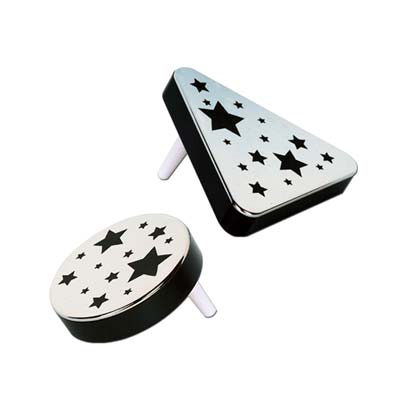 Plastic Metallic Noisemakers black & silver