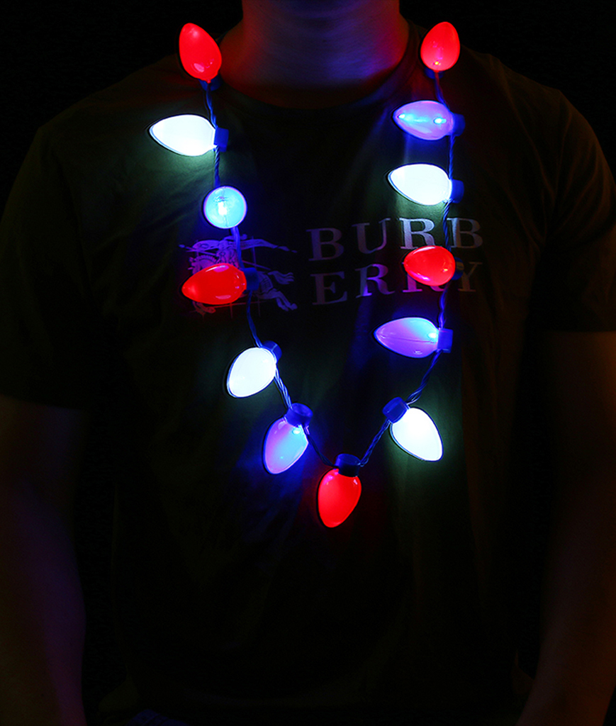 LED Patriotic Bulb Necklace