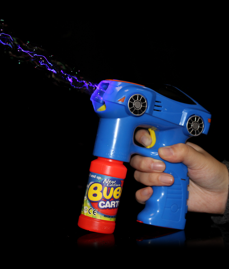 LED 7 Inch Bubble Gun - Car - Blue