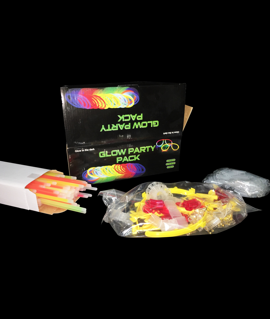 8 Inch Glow Party Pack - 200 Count Set