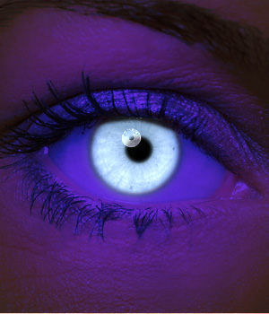 Novelty Contact Lenses - White UV