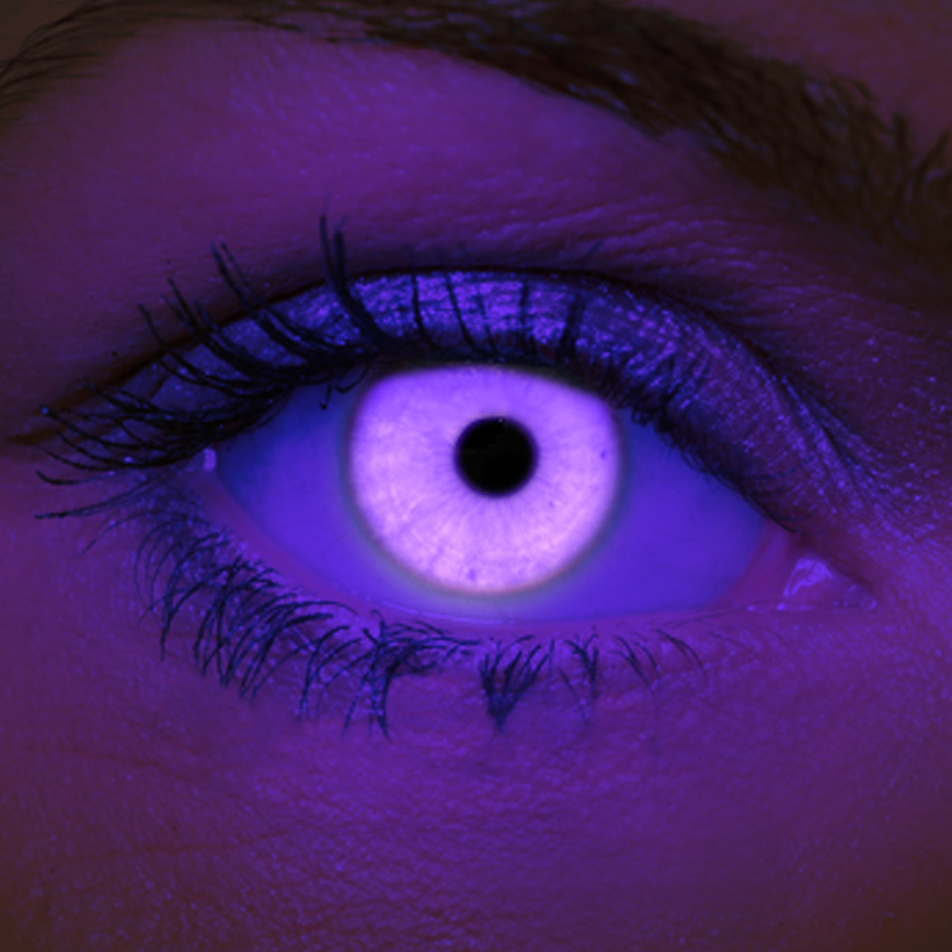 Crazy Halloween Contact Lenses - Violet UV