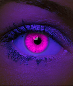 Crazy Halloween Contact Lenses - Pink UV