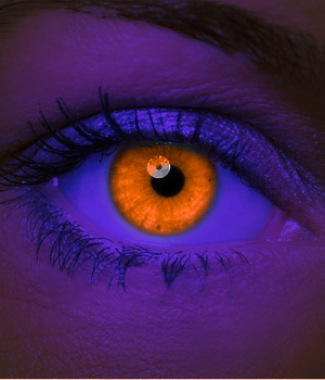 Crazy Halloween Contact Lenses - Orange UV