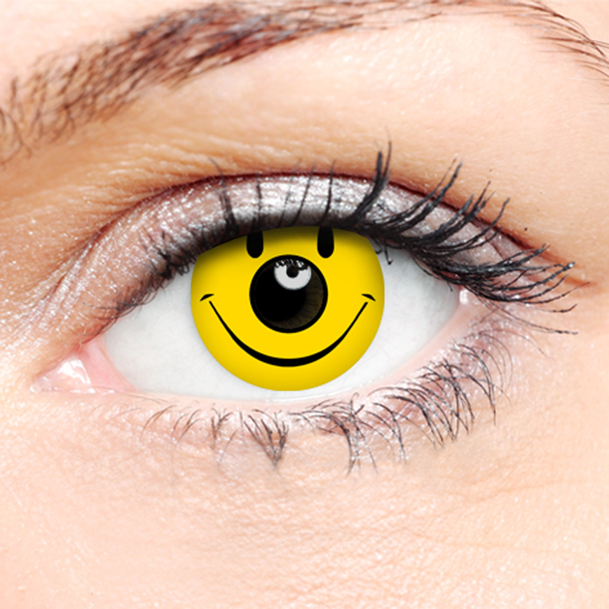 Novelty Contact Lenses - Smiley