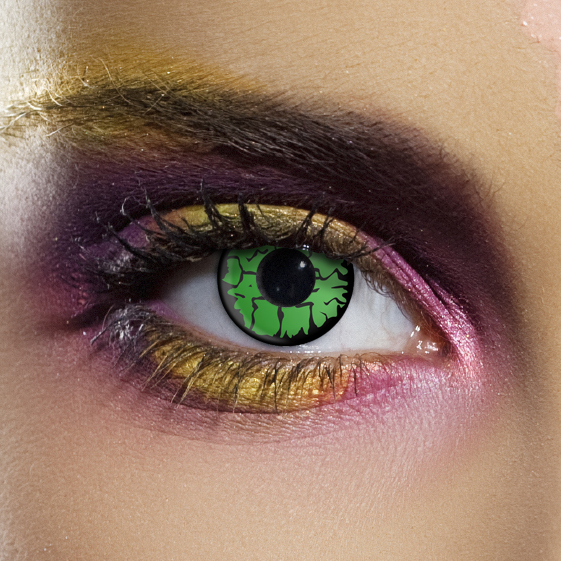 Crazy Halloween Contact Lenses - Angelic Green
