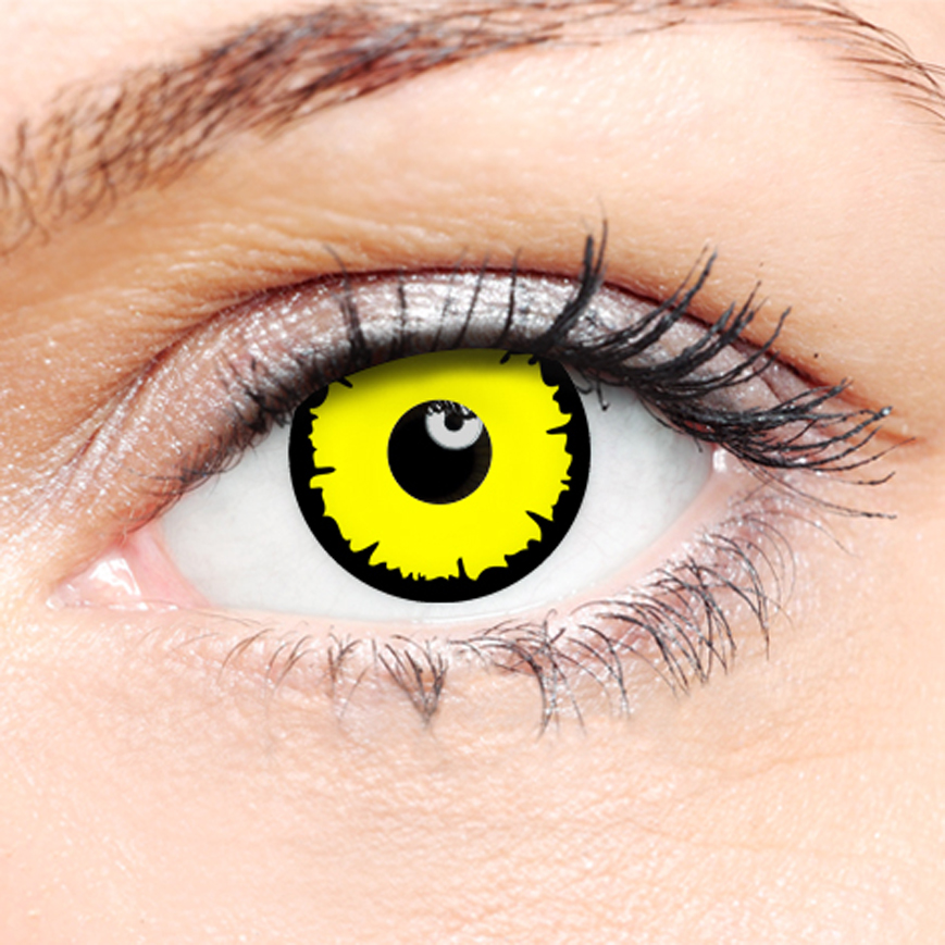 Novelty Contact Lenses - Angelic Yellow