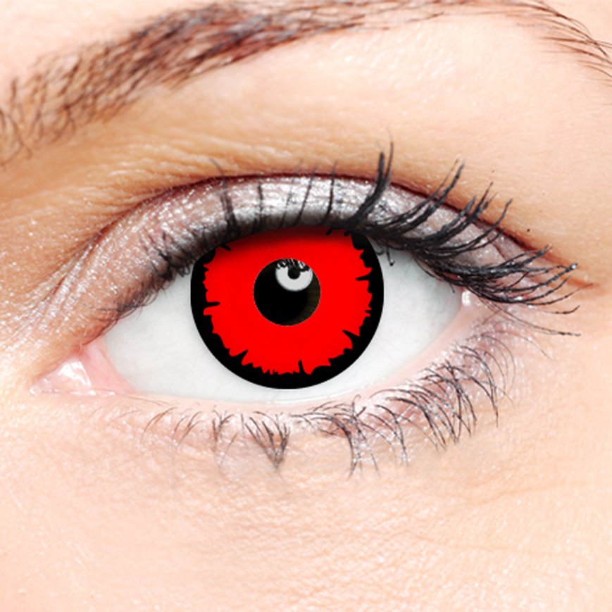Crazy Halloween Contact Lenses - Angelic Red
