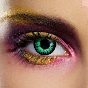 Crazy Halloween Contact Lenses - Aqua 2 Tone