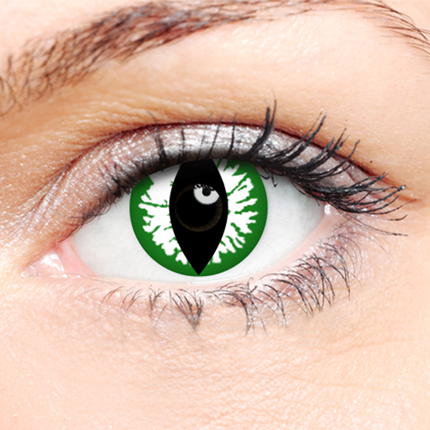 Crazy Halloween Contact Lenses - Green Cat