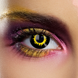 Crazy Halloween Contact Lenses - Black Wolf